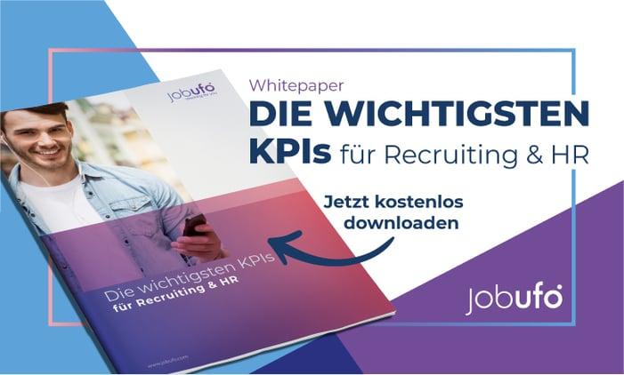 """Jobufo-Whitepaper: """"Die wichtigsten KPIs für Recruiting und HR"""" - zum kostenlosen Download"""