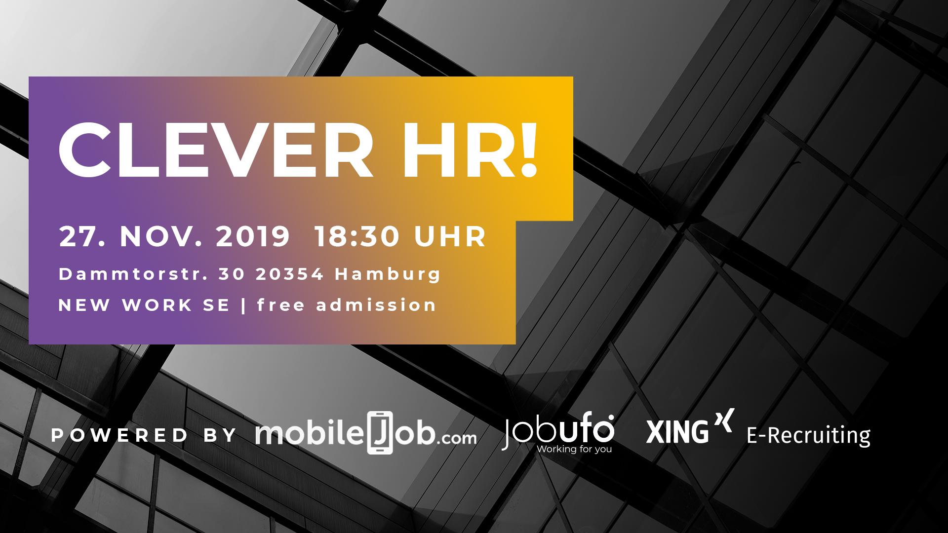 CleverHR_Meetup_Hamburg_Sharepic_16x9_Logos klein unten